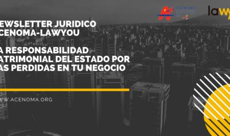 Newsletter Juridico ACENOMA-LawYou: La responsabilidad Patrimonial del Estado por las perdidas de los negocios en el Estado de Alarma.