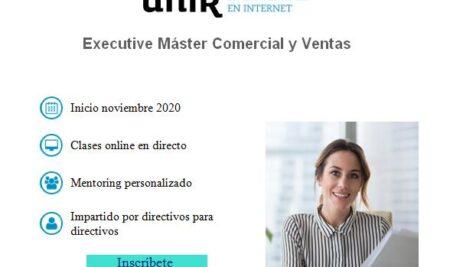 mpulsa tu carrera profesional con el Executive Máster en Comercial y Ventas en UNIR (descuento asociados).