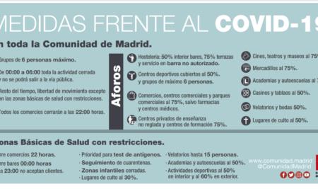 Medidas específicas temporales Zonas Básicas de Salud de San Sebastián de los Reyes y Alcobendas