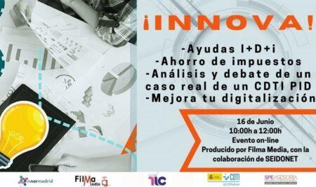 No te pierdas el próximo Encuentro Innova 16 de junio: Ayudas I+D+i, Ahorro de impuestos, digitalización…