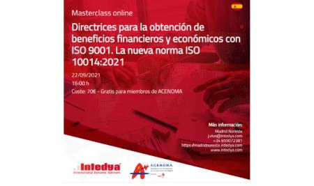 Jornada: Directrices para la obtención de beneficios financieros y económicos con ISO 9001. La nueva norma ISO 10014:2021